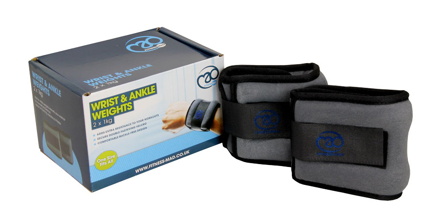 Fitness Mad Wrist & Ankle 1KG Weights