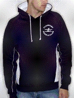 Fladbury Paddle Club navy and white contrast hoodie