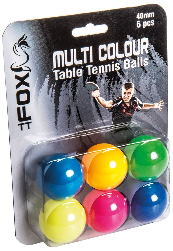 Fox Coloured TT Balls (6PK)