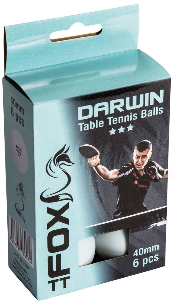 Fox Darwin 3 Star TT Match Balls (6PK)