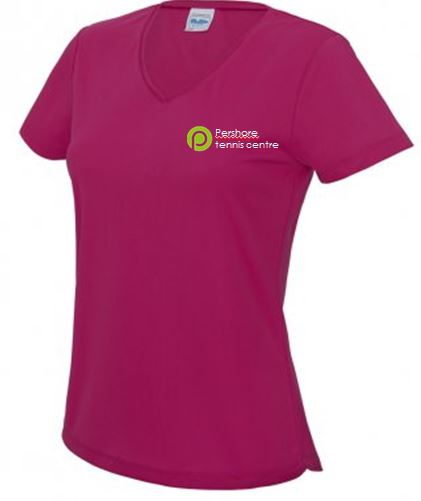 Pershore Tennis Club Ladies V neck T Shirt