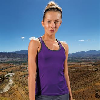 TriDri Ladies Panelled fitness vest